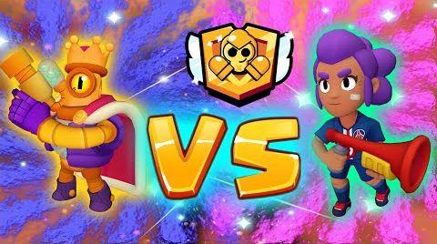 Смотреть онлайн Браво старс Батл  ШЕЛЛИ против РИКО - Кто самый сильный герой в игре?