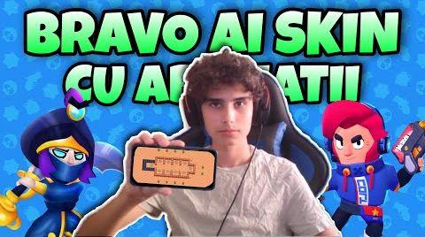 Смотреть онлайн [LIVE] BRAVO AI SKIN CU ABONATII PE ADD !! - Brawl Stars Romania